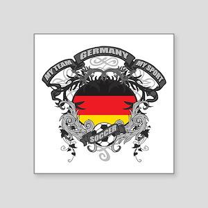 "Germany Soccer Square Sticker 3"" x 3"""