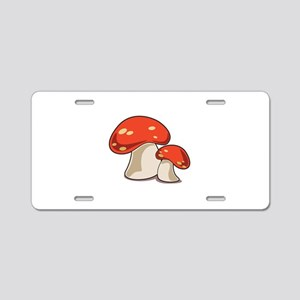 Mushrooms Aluminum License Plate