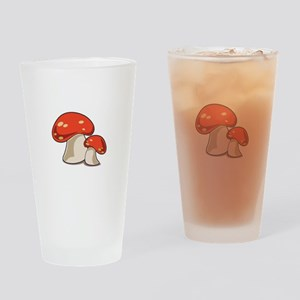 Mushrooms Drinking Glass