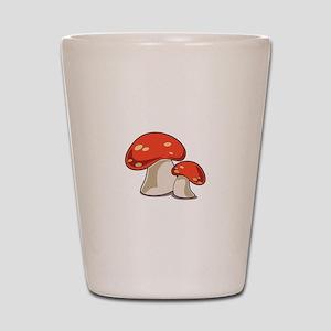 Mushrooms Shot Glass