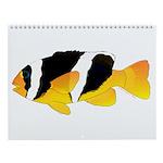 Colorful Reef Fish 3 Fish Wall Calendar