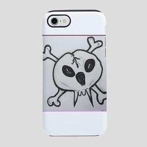 Vampire skull crossbones iPhone 7 Tough Case