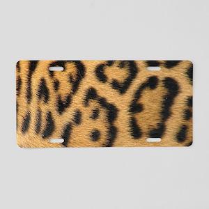 Leopard fur Aluminum License Plate