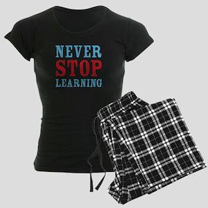 Never Stop Learning Women's Dark Pajamas