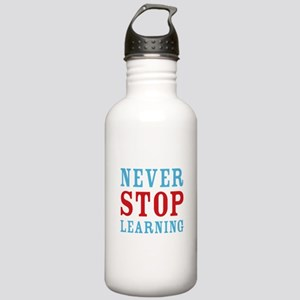 Never Stop Learning Stainless Water Bottle 1.0L