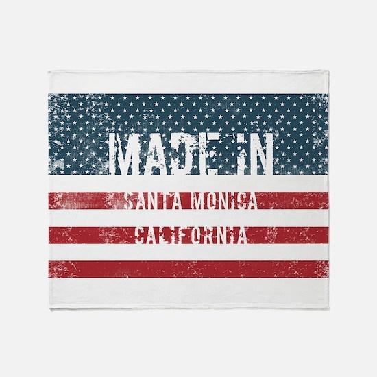 Made in Santa Monica, California Throw Blanket