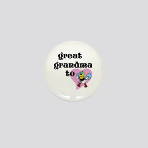 Heart Great Grandma To Bee Mini Button