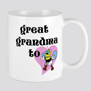 Heart Great Grandma To Bee Mugs