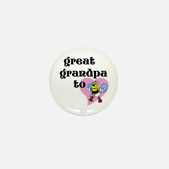 Heart Great Grandpa To Bee Mini Button
