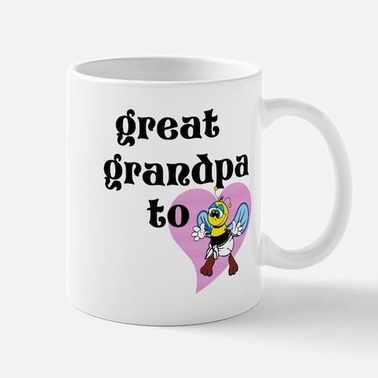 Heart Great Grandpa To Bee Mugs