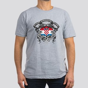 Croatia Soccer Men's Fitted T-Shirt (dark)
