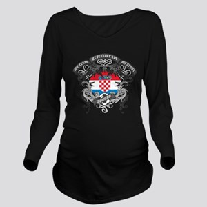 Croatia Soccer Long Sleeve Maternity T-Shirt