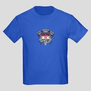 Croatia Soccer Kids Dark T-Shirt