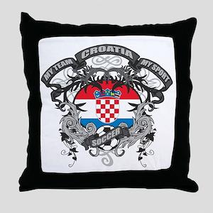 Croatia Soccer Throw Pillow