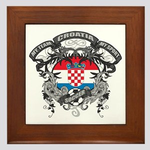 Croatia Soccer Framed Tile