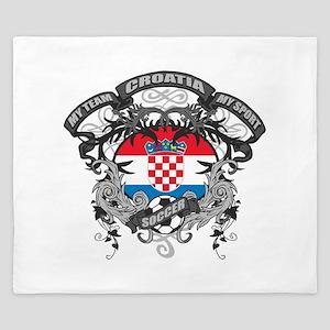 Croatia Soccer King Duvet