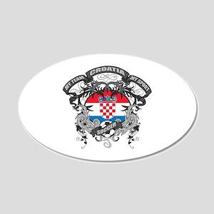 Croatia Soccer 20x12 Oval Wall Decal