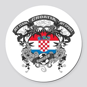 Croatia Soccer Round Car Magnet