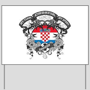 Croatia Soccer Yard Sign