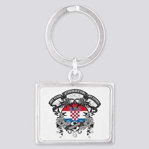 Croatia Soccer Landscape Keychain