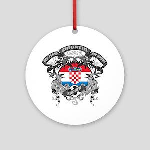 Croatia Soccer Ornament (Round)