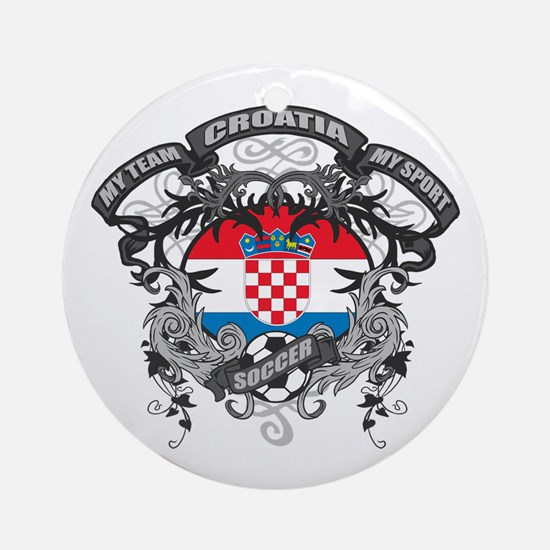Croatia Soccer Ornament (Round)