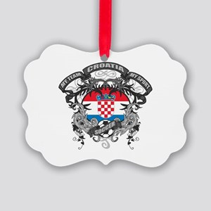 Croatia Soccer Picture Ornament