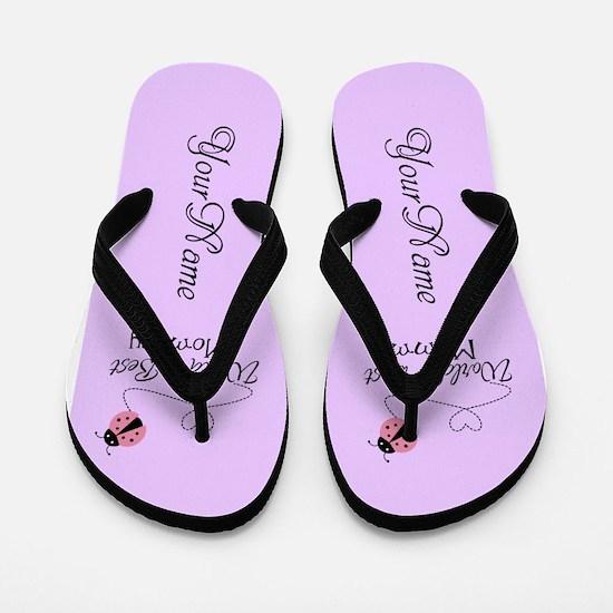 Worlds Best Mommy Flip Flops