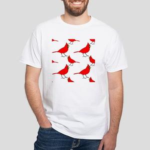 Cardinal Pattern White T-Shirt
