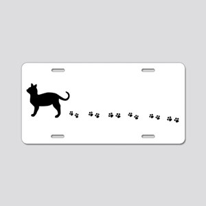 Kitty paws Aluminum License Plate