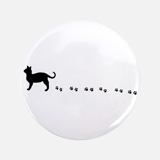 "Kitty paws 3.5"" Button"