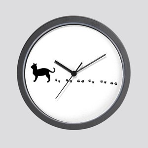 Kitty paws Wall Clock