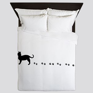 Kitty paws Queen Duvet
