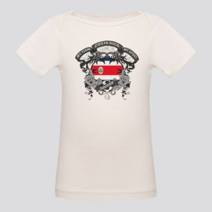 Costa Rica Soccer Organic Baby T-Shirt