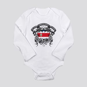 Costa Rica Soccer Long Sleeve Infant Bodysuit