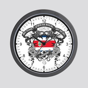 Costa Rica Soccer Wall Clock