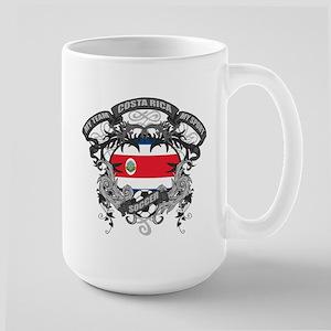 Costa Rica Soccer Large Mug