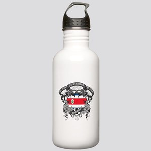 Costa Rica Soccer Stainless Water Bottle 1.0L