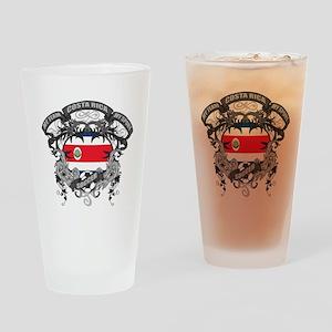 Costa Rica Soccer Drinking Glass