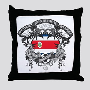 Costa Rica Soccer Throw Pillow