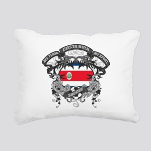 Costa Rica Soccer Rectangular Canvas Pillow