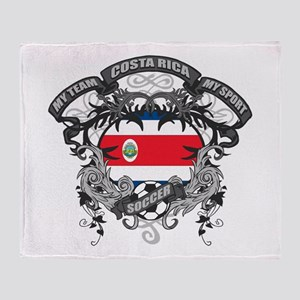 Costa Rica Soccer Throw Blanket