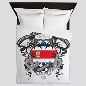 Costa Rica Soccer Queen Duvet