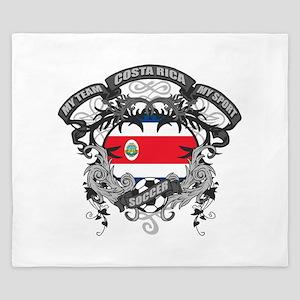Costa Rica Soccer King Duvet
