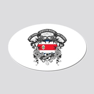 Costa Rica Soccer 20x12 Oval Wall Decal