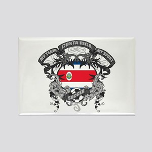 Costa Rica Soccer Rectangle Magnet