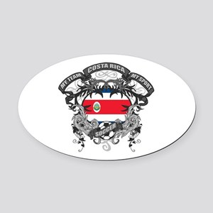 Costa Rica Soccer Oval Car Magnet