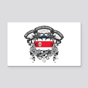 Costa Rica Soccer Rectangle Car Magnet