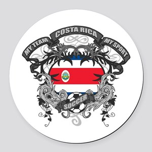Costa Rica Soccer Round Car Magnet