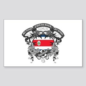 Costa Rica Soccer Sticker (Rectangle)